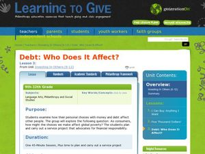 Debt: Who Does it Affect? Lesson Plan