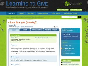 What Are You Drinking? Lesson Plan