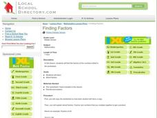 Finding Factors Lesson Plan