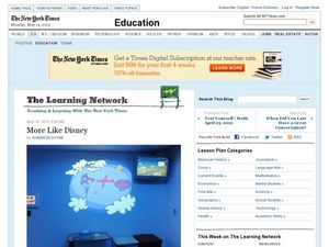 The Learning Network: More Like Disney  Worksheet