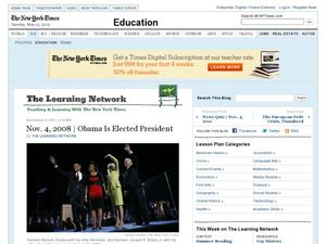 Nov. 4, 2008 | Obama Is Elected President Worksheet