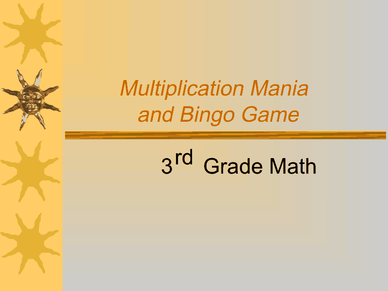 Multiplication Mania and Bingo Game Presentation