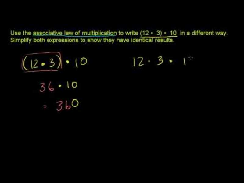 Associative Law of Multiplication Video