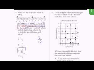 CAHSEE Practice: Problems 17-19 Video