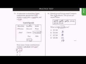 CAHSEE Practice: Problems 15-16 Video