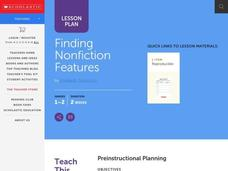 Finding Nonfiction Features Lesson Plan