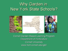 Why Garden in New York State Schools? Presentation