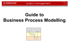 Guide to Business Process Modelling Presentation