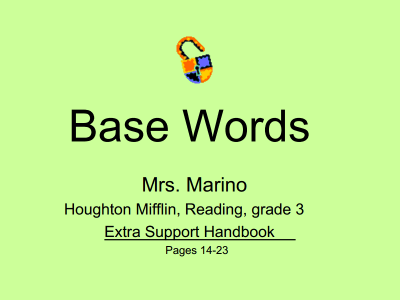 Base Words Presentation