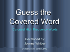 Guess The Covered Word 1 Presentation