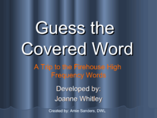 Guess The Covered Word 3 Presentation