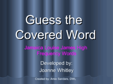 Guess The Covered Word 4 Presentation