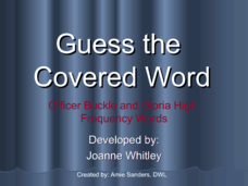 Guess The Covered Word 6 Presentation