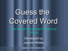 Guess The Covered Word 7 Presentation