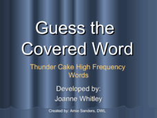 Guess The Covered Word 8 Presentation