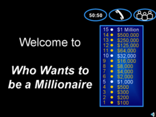 Millionaire Game: US History Review Presentation