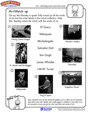 Art Match Up Worksheet