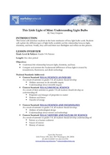 This Little Light of Mine: Understanding Light Bulbs Lesson Plan
