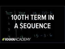 Finding the 100th Term in a Sequence Video