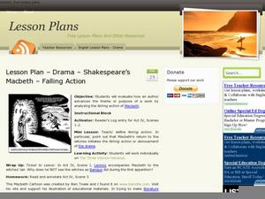Macbeth: Denouement/Falling Action Lesson Plan