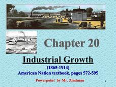 Industrial Growth (1865 - 1914) Presentation