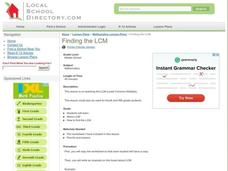 Finding the LCM Lesson Plan