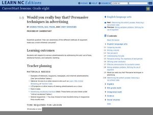 Would you really buy that? Persuasive techniques in advertising Lesson Plan
