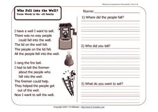 Who Fell into the Well? Worksheet