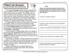 What's the Forecast? Worksheet