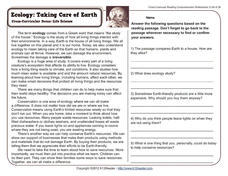 Taking Care of Earth Worksheet