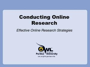 Conducting Research Online Presentation