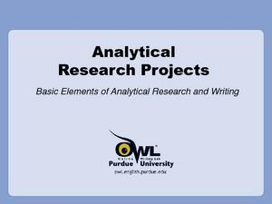 Analytical Research Projects Presentation