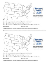 Mystery State # 28 Worksheet