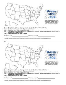 Mystery State # 24 Worksheet