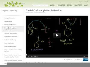 Friedel Crafts Acylation Addendum Video
