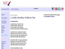 DLTK's Poems: A Little Brother Follows Me Handouts & Reference