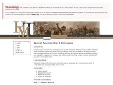 Spanish-American War: 1 Day Lesson Lesson Plan