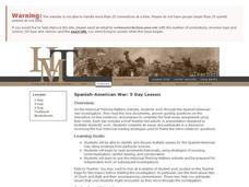 Spanish-American War: 5 Day Lesson Lesson Plan