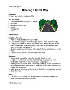 Street Mapping Worksheet