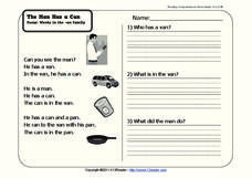 The Man Has a Can Worksheet