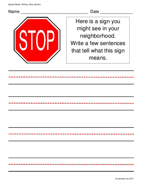 The Helpful Garden: Go-Go Stop Writing |Stop Sign Writing