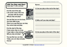 Will You Stay and Play? Worksheet