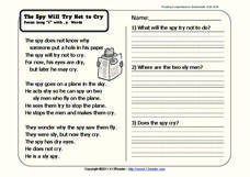 The Spy Will Try Not to Cry Worksheet