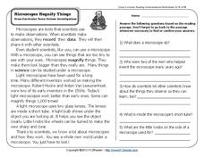 Microscopes lesson plans worksheets lesson planet microscopes magnify things ibookread ePUb