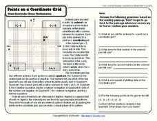 Points on a Coordinate Grid Worksheet