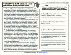 Conflict Over North American Lands Worksheet