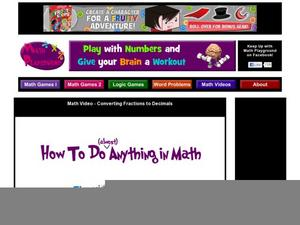 Change Fractions Into Decimals Video