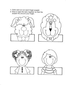Finger Puppets Worksheet