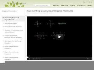 Representing Structures of Organic Molecules Video
