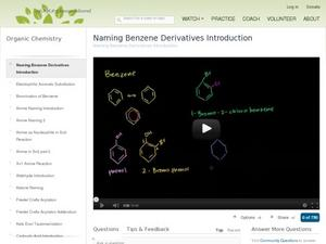 Naming Benzene Derivatives Introduction Video